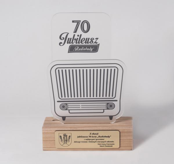 Trophy for 70th anniversary of Radiobudy