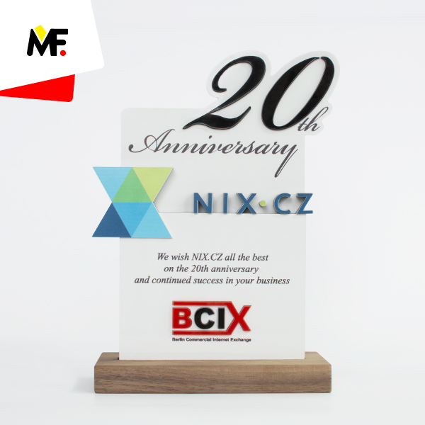 Jubilee trophy for 20th Anniversary of Berlin Commercial Internet Exchange