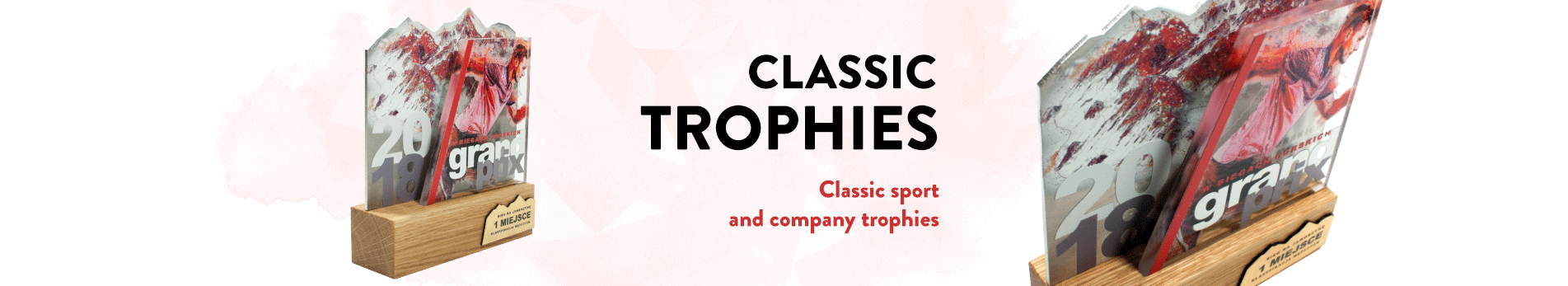 Classic sport and company trophies made by Modern Forms