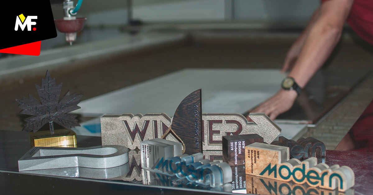 Unique shapes of trophies made by Water Jet